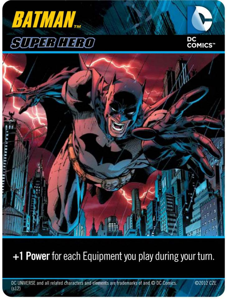 Batman Character Card from the DC Deck Building Game