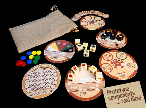 VivaJava: The Coffee Game: The Dice Game Prototype Components