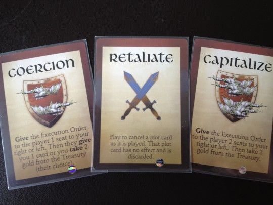 Example of Plot Cards from Kill the Overlord
