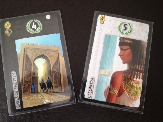 Leader and City cards give points in a variety of ways.