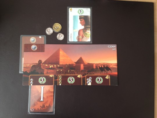 The player discards a card this time and gains 3 Coins from the bank.