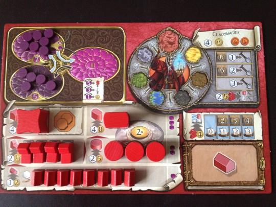 Terra Mystica Chaos Mage Board Set Up