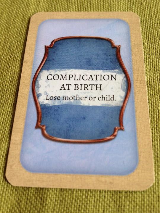 Legacy The Testament of Duke de Crecy Complication at Birth Card