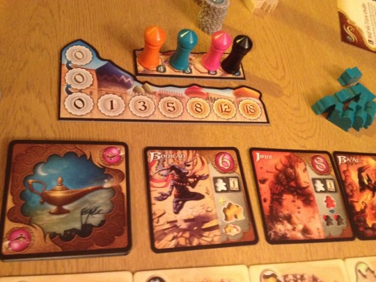 Five Tribes Djinns and Turn Order Board