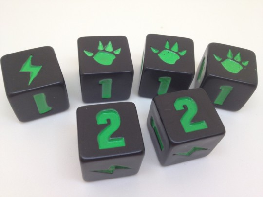 King of Tokyo Attack Dice