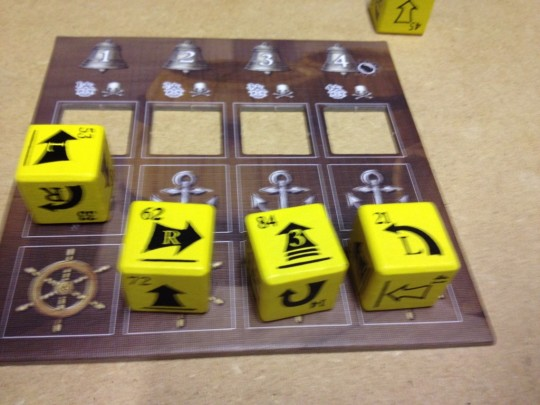 Pirate Dice Player Board