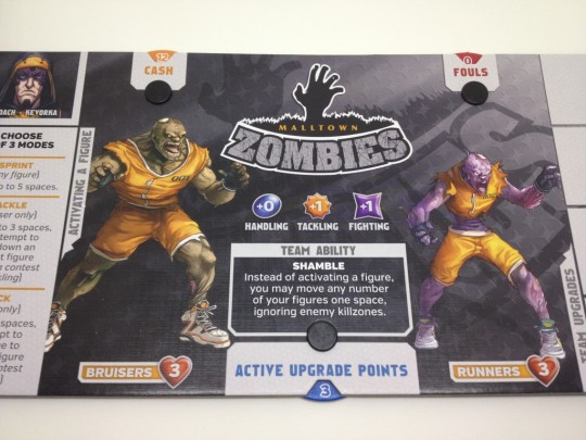 The Zombie board is set up and ready to go!