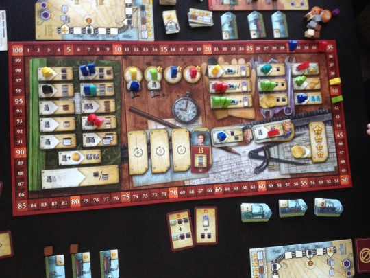 Russian Railroads Game Board