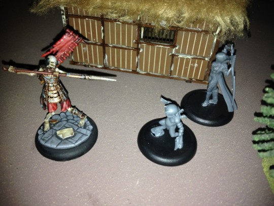 A well painted miniature will eventually be defeated by my unpainted Terror Tot and Lilith.  He looked dying though.