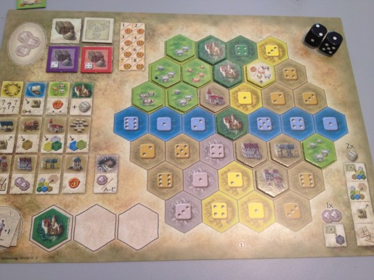 The Castles of Burgundy Player Board 1