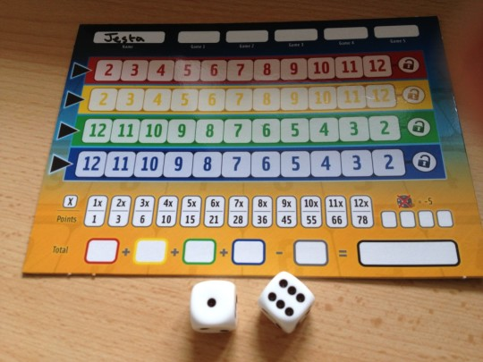 Qwixx White Dice