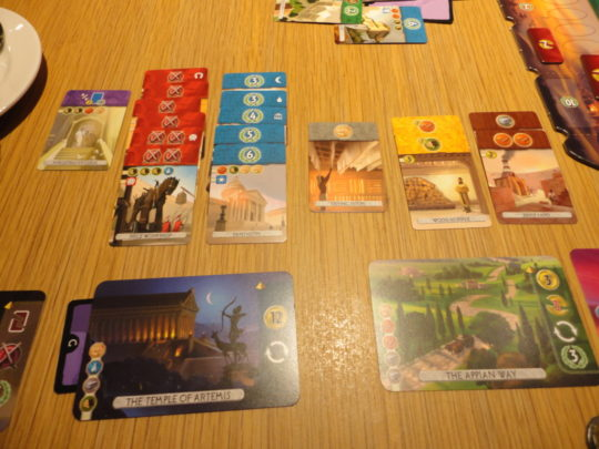 7 Wonders Duel Play Area