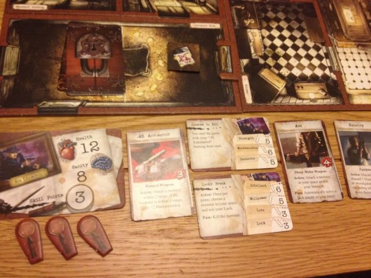 Mansions of Madness Player Area
