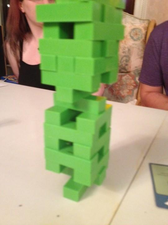 Challenge Night Jenga Tower