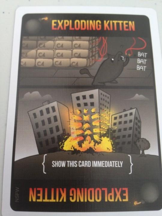 Exploding Kittens Explosion Card