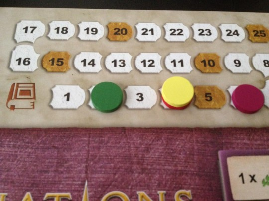 Nations the Dice Game Book Track
