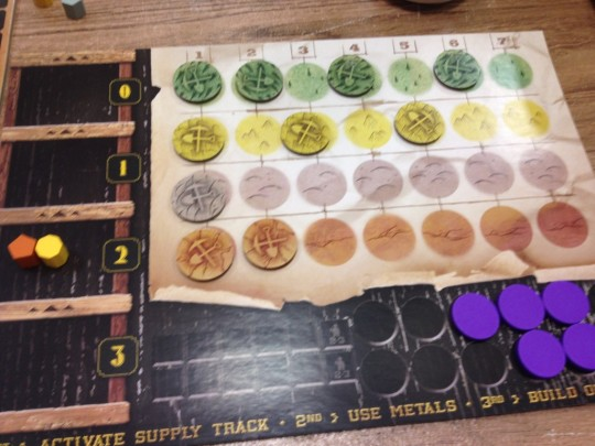 Gold West Player Board