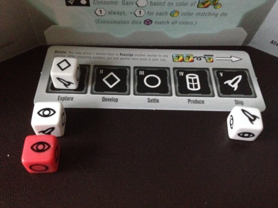 Roll for the Galaxy Assign Dice