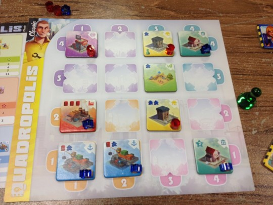 Quadropolis Classic Player Board