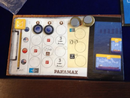 Panamax Player Board