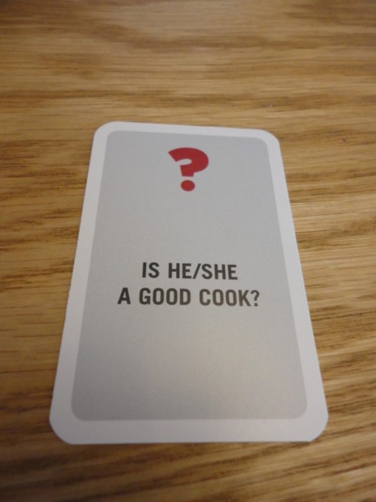 Unusual Suspects Question Card