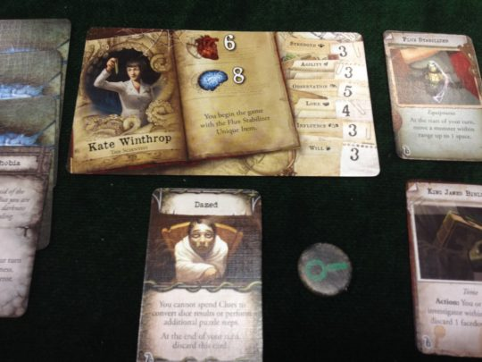 Mansions of Madness Second Edition Status Card
