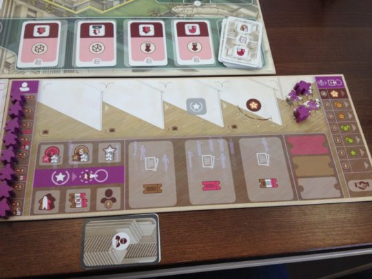 The Gallerist Player Board